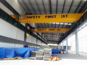 Double girder crane 15 tons